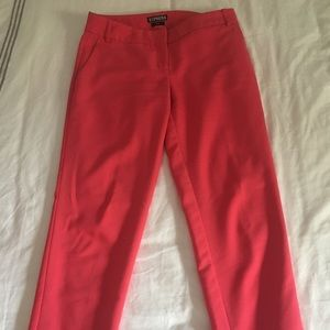 Express Ankle Editor Pants -  coral